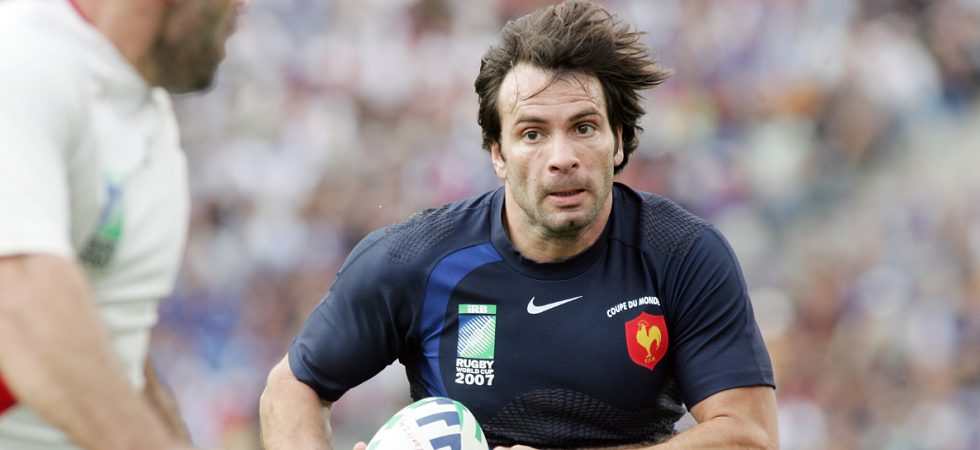 Christophe Dominici en train de jouer au rugby en 2007